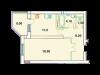 "Схема квартиры в проекте ""Дубна Ривер Клаб""- #1851190852"