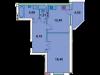 "Схема квартиры в проекте ""Дубна Ривер Клаб""- #464856094"