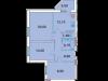 "Схема квартиры в проекте ""Дубна Ривер Клаб""- #1801814002"