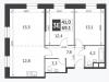 """Схема квартиры в проекте """"Движение.Тушино""""- #2107858680"""