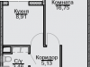 "Схема квартиры в проекте ""Эко-Квадрат""- #1246262871"