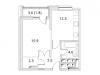 """Схема квартиры в проекте """"Фестиваль парк""""- #1762971201"""