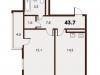 "Схема квартиры в проекте ""Forest""- #1562317145"