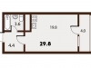 "Схема квартиры в проекте ""Forest""- #209954347"