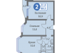 "Схема квартиры в проекте ""Головино""- #1762352111"