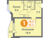 "Схема квартиры в проекте ""Головино""- #1990489016"