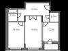 """Схема квартиры в проекте """"Горельники""""- #1184472583"""