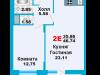 """Схема квартиры в проекте """"Город счастья""""- #1179873285"""