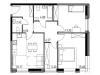 """Схема квартиры в проекте """"Городской квартал Big time""""- #1377305229"""
