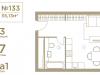 "Схема квартиры в проекте ""I'M (Ай Эм)""- #650179139"