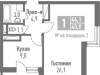 "Схема квартиры в проекте ""Измайлово Lane""- #1524768443"