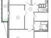 """Схема квартиры в проекте """"Изумрудные холмы""""- #130200402"""