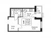 """Схема квартиры в проекте """"Кленовые аллеи (Ватутинки)""""- #1161618020"""