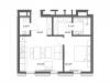 """Схема квартиры в проекте """"Cvet 32 (Цвет 32)""""- #996814277"""