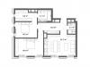 """Схема квартиры в проекте """"Cvet 32 (Цвет 32)""""- #862665483"""