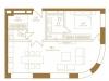 """Схема квартиры в проекте """"Композиция №24""""- #104201704"""