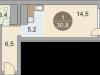 """Схема квартиры в проекте """"Красногорские Ключи""""- #1304190220"""