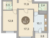 """Схема квартиры в проекте """"Красногорские Ключи""""- #1442984276"""
