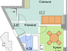 """Схема квартиры в проекте """"Красный Кит""""- #1360320675"""
