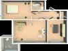 """Схема квартиры в проекте """"Кристалл-Хаус""""- #2080899945"""