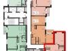"""Схема квартиры в проекте """"L'Club""""- #65395411"""