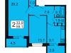 """Схема квартиры в проекте """"Лермонтова, 10""""- #1927255923"""