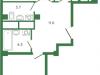"""Схема квартиры в проекте """"Лесная поляна""""- #1263362833"""