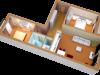 """Схема квартиры в проекте """"Лесной городок""""- #641518678"""
