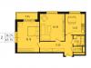"""Схема квартиры в проекте """"Лесопарковый""""- #274224925"""