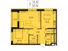 """Схема квартиры в проекте """"Лесопарковый""""- #504321620"""