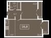 """Схема квартиры в проекте """"Level Кутузовский (Левел Кутузовский)""""- #1551868939"""