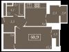 """Схема квартиры в проекте """"Level Кутузовский (Левел Кутузовский)""""- #1059395408"""