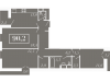"""Схема квартиры в проекте """"Level Кутузовский (Левел Кутузовский)""""- #88431415"""