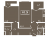 """Схема квартиры в проекте """"Level Кутузовский (Левел Кутузовский)""""- #1484796510"""