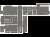 """Схема квартиры в проекте """"Level Кутузовский (Левел Кутузовский)""""- #1370231899"""