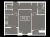 """Схема квартиры в проекте """"Level Кутузовский (Левел Кутузовский)""""- #70915193"""