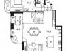"Схема квартиры в проекте ""Level Стрешнево""- #224086408"