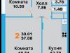 "Схема квартиры в проекте ""Лидер парк""- #1820907977"