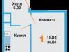 "Схема квартиры в проекте ""Лидер парк""- #1878733831"