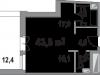 """Схема квартиры в проекте """"Литератор""""- #670023899"""