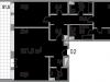 """Схема квартиры в проекте """"Литератор""""- #1496656219"""