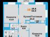 """Схема квартиры в проекте """"Лобня Сити""""- #2137780994"""