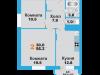 """Схема квартиры в проекте """"Лобня Сити""""- #1238096341"""