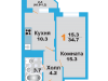"""Схема квартиры в проекте """"Лобня Сити""""- #1661085651"""