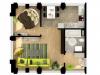"Схема квартиры в проекте ""Loft 17 (Лофт 17)""- #1609790939"