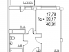"Схема квартиры в проекте ""Лукино-Варино""- #1885080657"