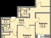 """Схема квартиры в проекте """"Любимое Домодедово""""- #1234465652"""