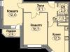 """Схема квартиры в проекте """"Любимое Домодедово""""- #1527426443"""