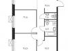 """Схема квартиры в проекте """"Люблинский парк""""- #1693360105"""