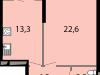 """Схема квартиры в проекте """"Макеевский""""- #410450100"""
